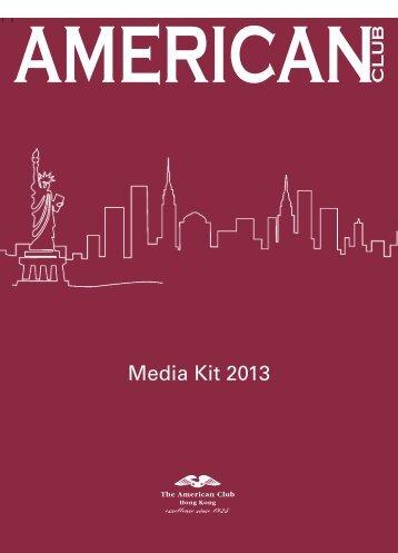 Media Kit 2013 - The American Club Hong Kong