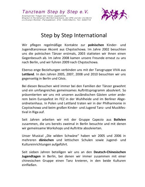 Tanzteam Step by Step e.V.