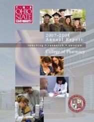 2008 Annual Report - College of Pharmacy - The Ohio State University