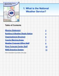 Section 1: What is the National Weather Service - NOAA