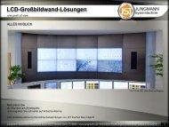 LCD-Großbildwand-Lösungen - Jungmann Systemtechnik