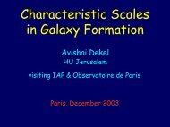 Characteristic Scales in Galaxy Formation
