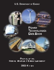 Power Technologies Data Book 2003 Edition - NREL