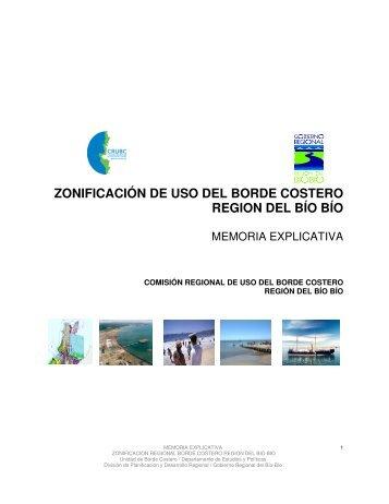 ZONIFICACIÓN DE USO DEL BORDE COSTERO REGION DEL BÍO ...