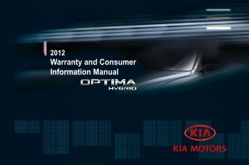 Warranty and Consumer Information Manual - Kia