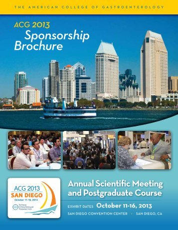 Sponsorship Brochure - ACG - American College of Gastroenterology