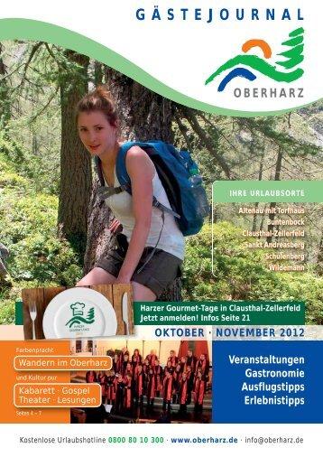 Gästejournal Oktober/November 2012 (PDF) - Der Oberharz