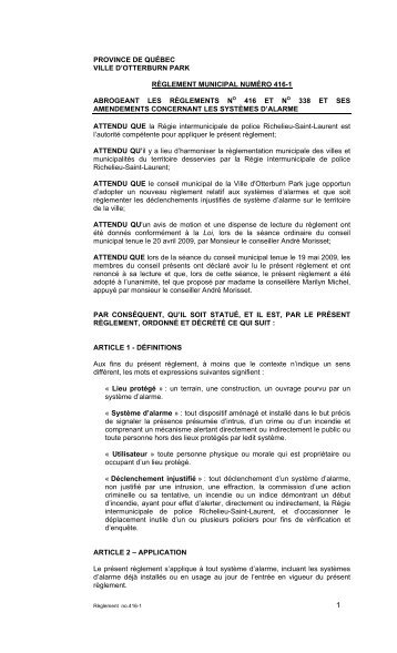 Article 2 objectif du for O piscine otterburn park