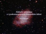 Základní informace o kosmickém záření