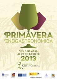 Primavera Enogastronómica - Viajeros del Vino