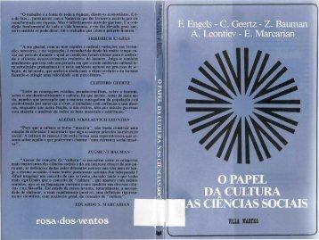 O Papel da Cultura nas Ciencias Sociais.pdf - Afoiceeomartelo.com.br