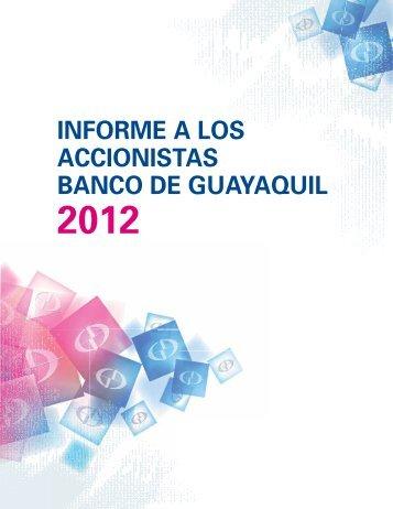 INFORME A LOS ACCIONISTAS BANCO DE GUAYAQUIL