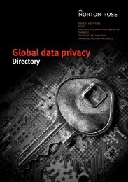 Global data privacy directory - February 2012 - Norton Rose