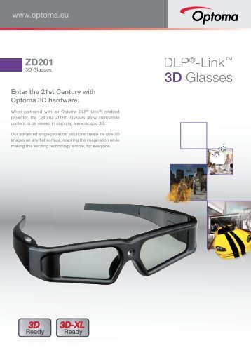 DLP®-Link™ 3D Glasses - Optoma