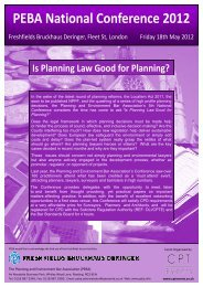 Is Planning Law Good for Planning? - Cornerstone Barristers