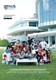 Undergraduate Studies Prospectus - NUS - Home
