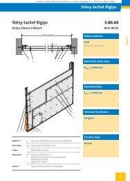 Stěna šachty, bez podkonstrukce, 2x Ridurit 20, bez izolace - Rigips