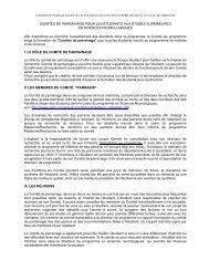 Directives sur le comité de parrainage - GRSNC