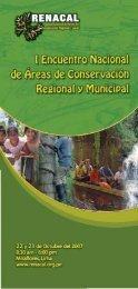 folleto RENACAL - Biblioteca Virtual de la Cooperación Internacional