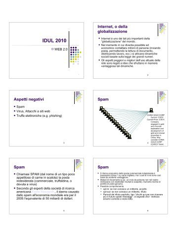 PDF (Acrobat Reader, 6 slide per foglio) - UNITN - FACOLTA' di ...