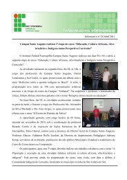 Boletim Informativo - Abril/2011 - Instituto Federal Farroupilha