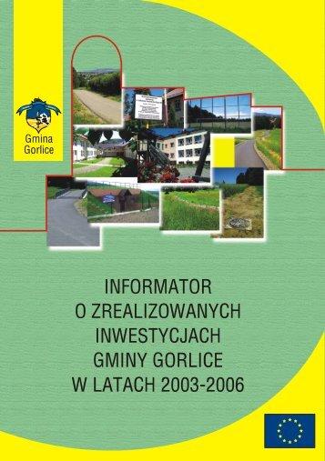 Inwestycje 2003-2006 - Gmina Gorlice