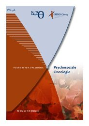 Psychosociale Oncologie - RINO Groep