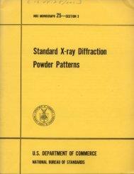 Standard X-ray Diffraction Powder Patterns