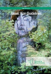 Akwé: Kon Guidelines - Convention on Biological Diversity