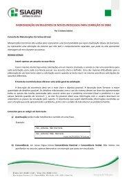 padronização em registros de novos processos para ... - Siagri