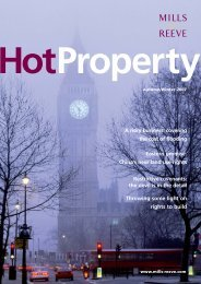 Hot Property Winter 2007 - Mills & Reeve