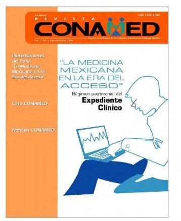Revista CONAMED, Vol. 11, Núm. 7, julio- septiembre, 2006