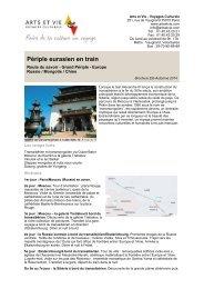 Périple eurasien en train - Arts et Vie