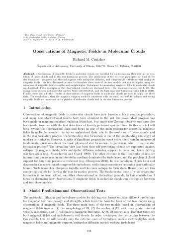 Observations of Magnetic Fields in Molecular Clouds