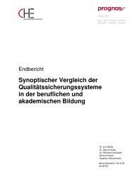 Synoptischer Vergleich der Qualitätssicherungssysteme in ... - Netz3L