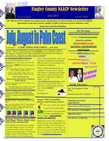 Flagler County NAACP Newsletter