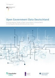 Open Government Data Deutschland (Kurzfassung) - des ...