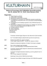 Læs referatet fra generalforsamlingen 2011 - Kulturhavn