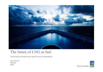 The future of LNG as fuel, technical and infrastructure aspects and ...