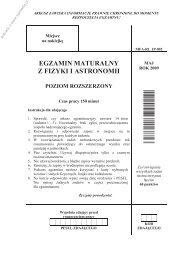 egzamin maturalny z fizyki i astronomii poziom ... - Sqlmedia.pl