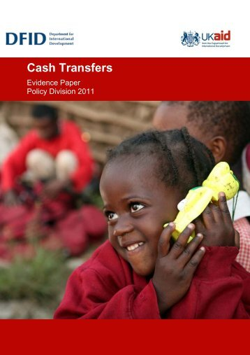 Cash transfers evidence paper - GiveWell