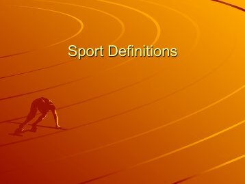 College Sport Definitions - MSU Dept of History