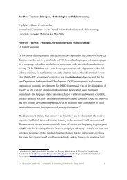 Pro-Poor Tourism: Principles, Methodologies and ... - Harold Goodwin