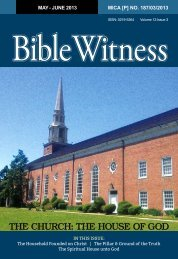 THE CHURCH: THE HOUSE OF GOD - Bible Witness
