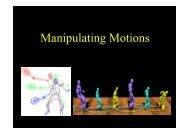 Manipulating Motions