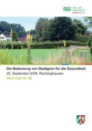 Die Bedeutung von Stadtgrün für die Gesundheit - Natur- und ...