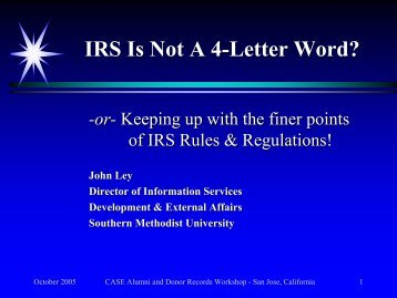 irs is not a 4 letter word supportingadvancement