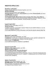 iniziative aprile 2012 - Azienda per il Turismo Rovereto e Vallagarina