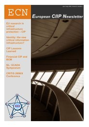 European CIIP Newsletter, Volume 5, Number 1 - irriis