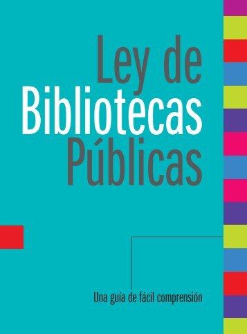 Ley de bibliotecas públicas - Biblioteca Pública Piloto
